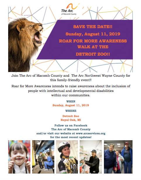 Roar For More Awareness Walk At The Detroit Zoo The Arc Nw